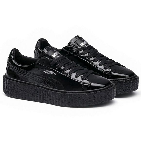 Puma Fenty Creepers Cracked Shiny Leather Sneaker NWT